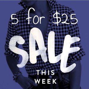 Tops - 🔵5/$25 SALE !